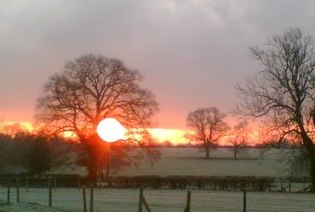 Midwinter sunrise (copyright Liz Keil)