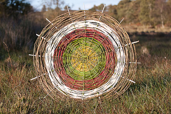 Weaving a web - by Richard Shilling, Land Artist
