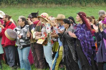 Warrior's Call ritual for the protection of Albion against fracking. A community forming around a cause.