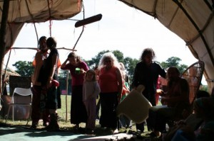 Creating new ways of living together at a Druid community camp.